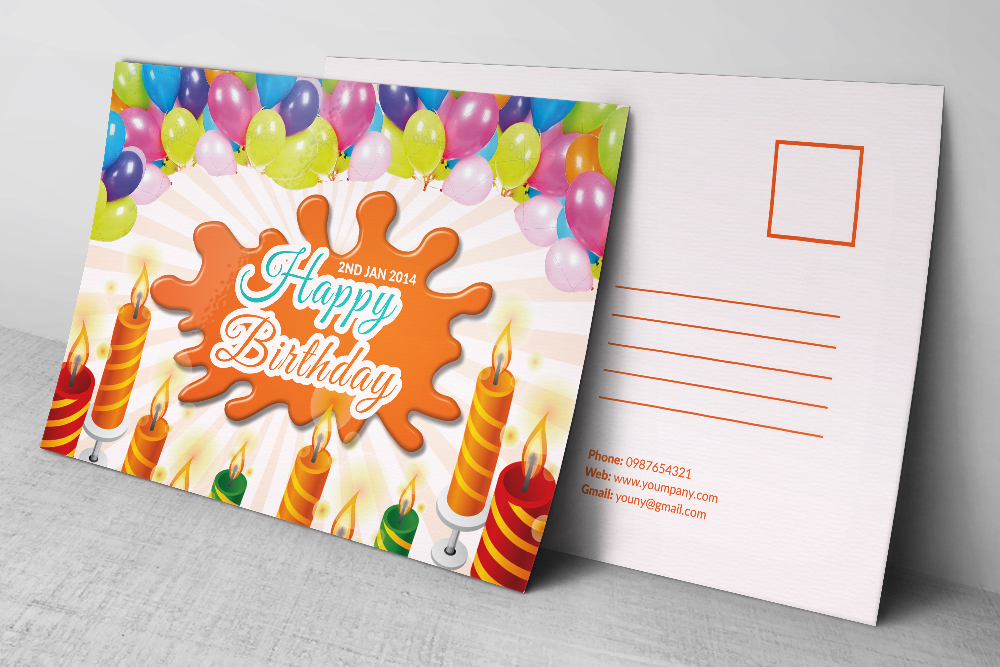 Kids Birthday Post Cards example image 3