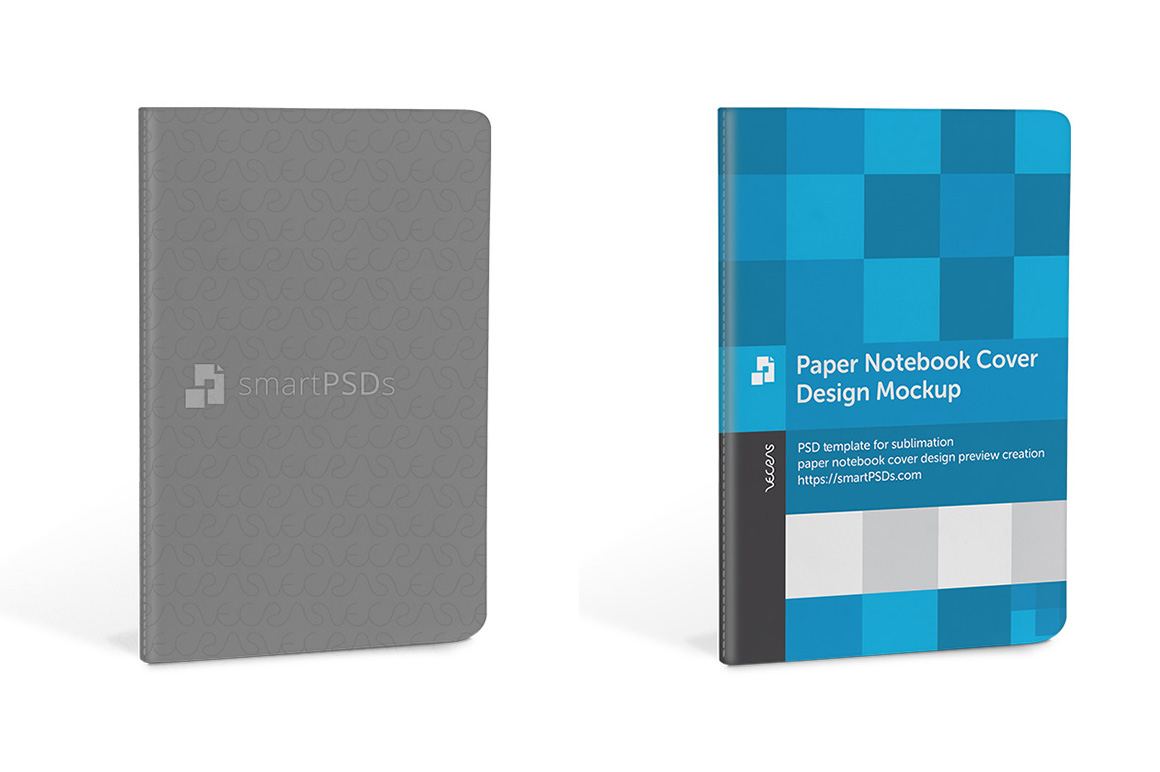 Paper Notebook Cover Design Mockup example image 4