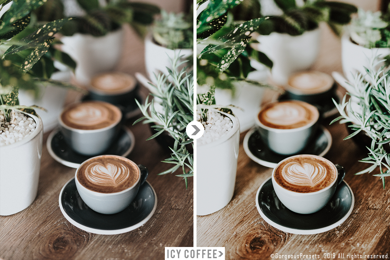 Mobile Lightroom Preset ICY COFFEE example image 3