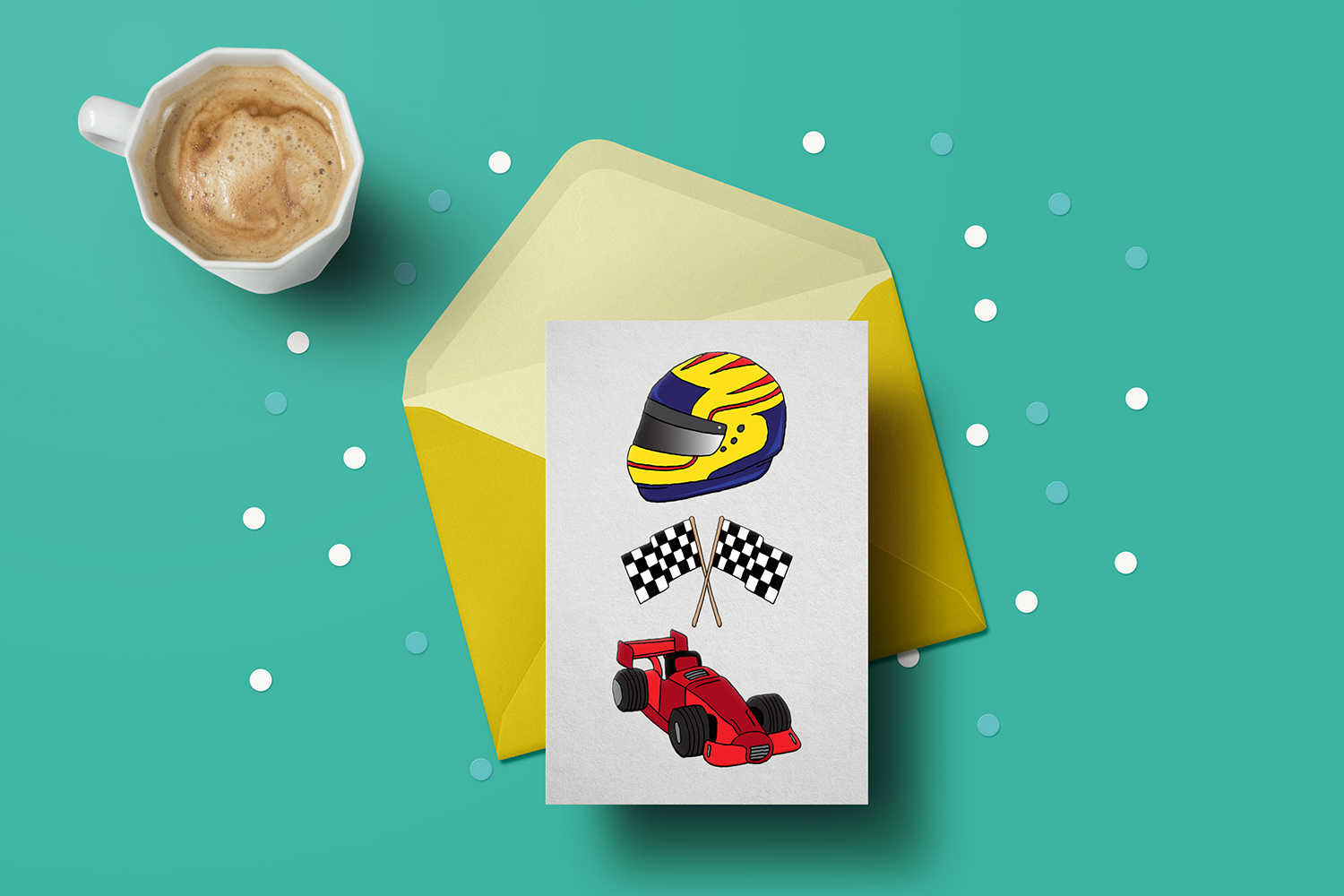 23 Racing Cars and Racetrack Graphics Illustrations Clipart example image 3
