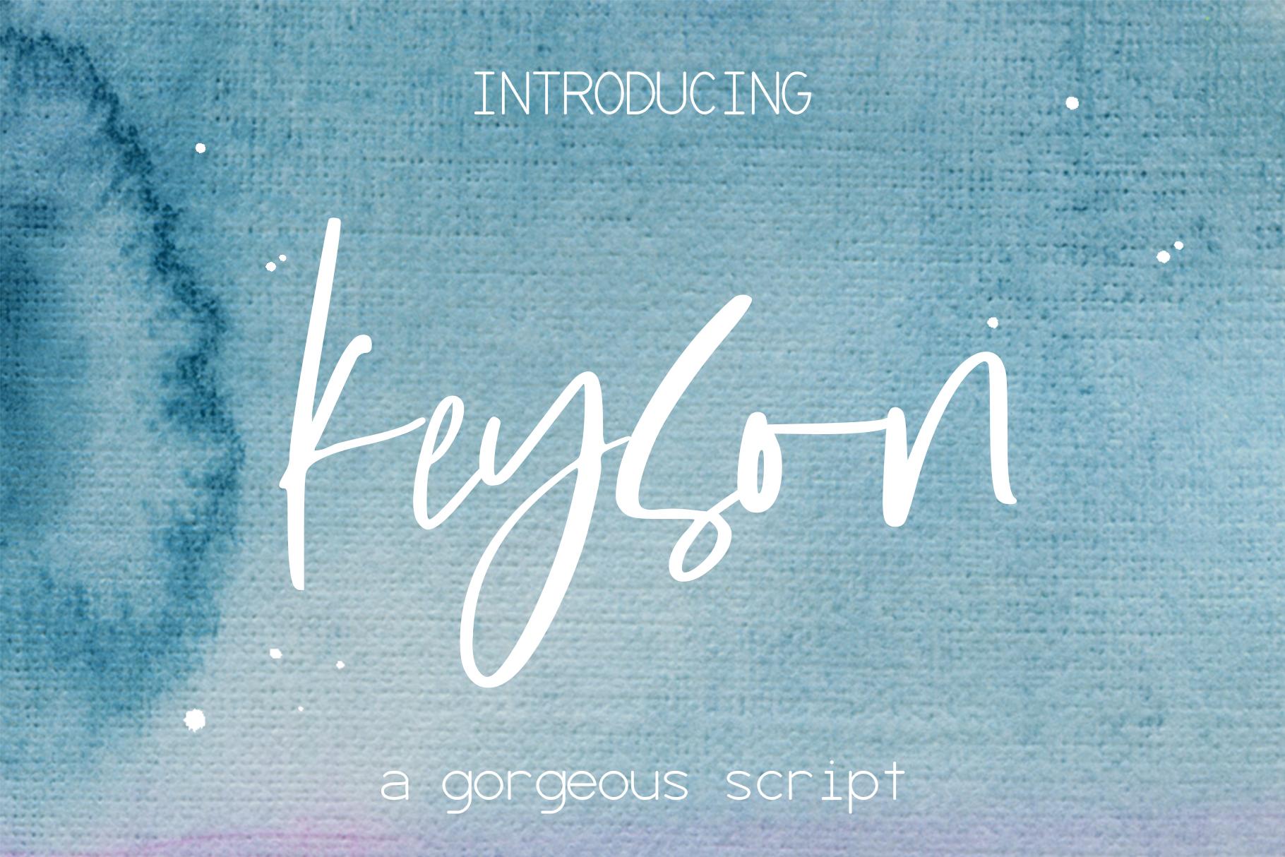 Keyson Font example image 1