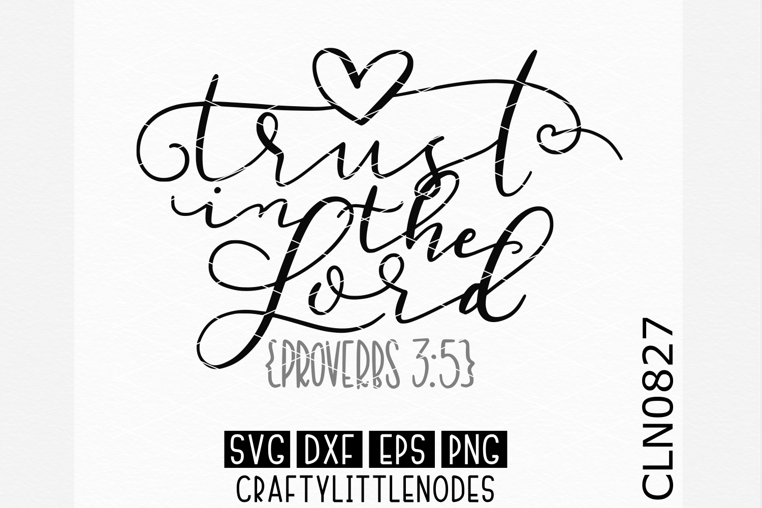 Hand Lettered- Trust In The Lord example image 1