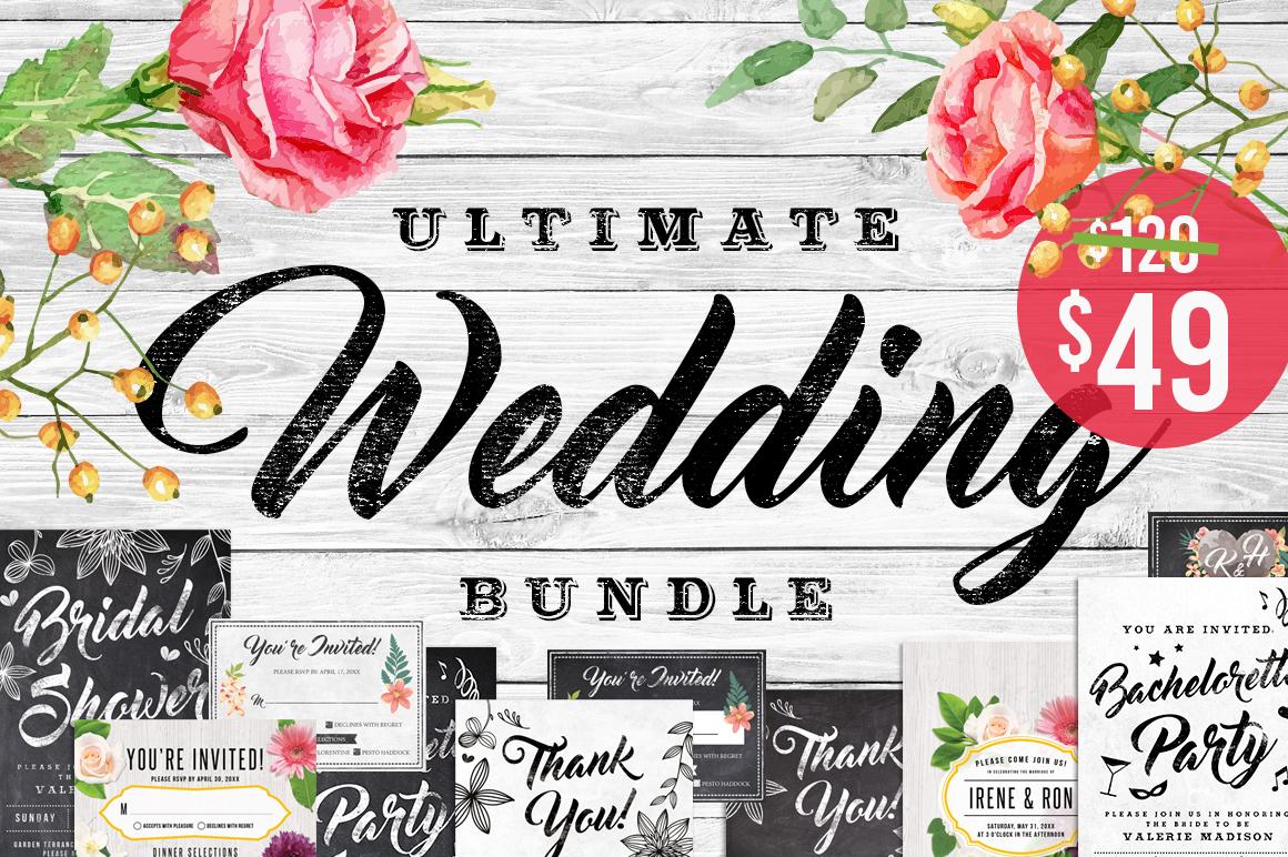 Massive Wedding Invite Bundle Flyer Save Date Bridal Shower  example image 1