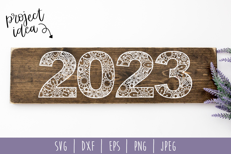 2023 Mandala Zentangle SVG, DXF, EPS, PNG JPEG example image 2