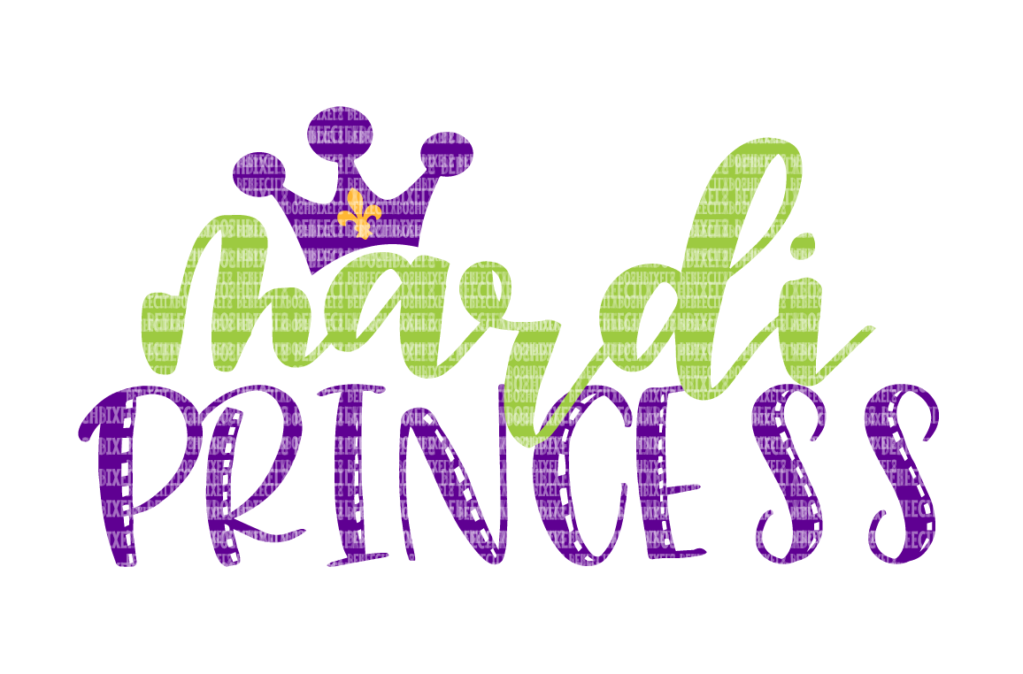 Mardi Princess SVG Files Printable Clipart Silhouette SVG for Circuit Designs SVG Cut Files Iron On Templates Digital Scrapbooking  example image 1