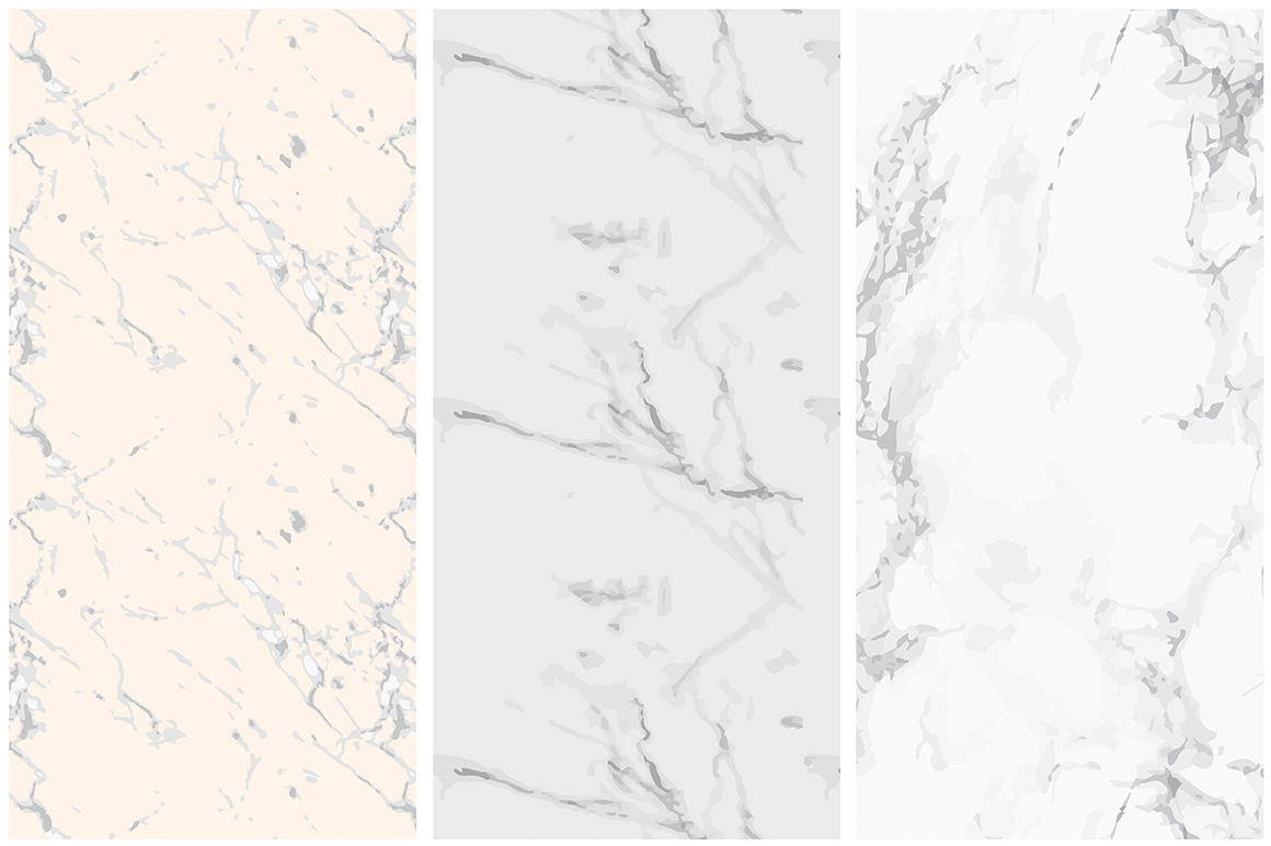 Marble Seamless Vector Patterns - 1 example image 2