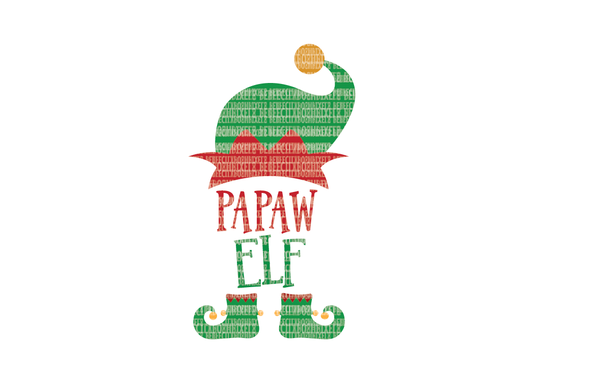 Christmas SVG File, Papaw Elf, SVG Files for Cameo and Cricut Design Space, Iron on Decal, Printable Transfer, DXF Commercial Use, example image 1