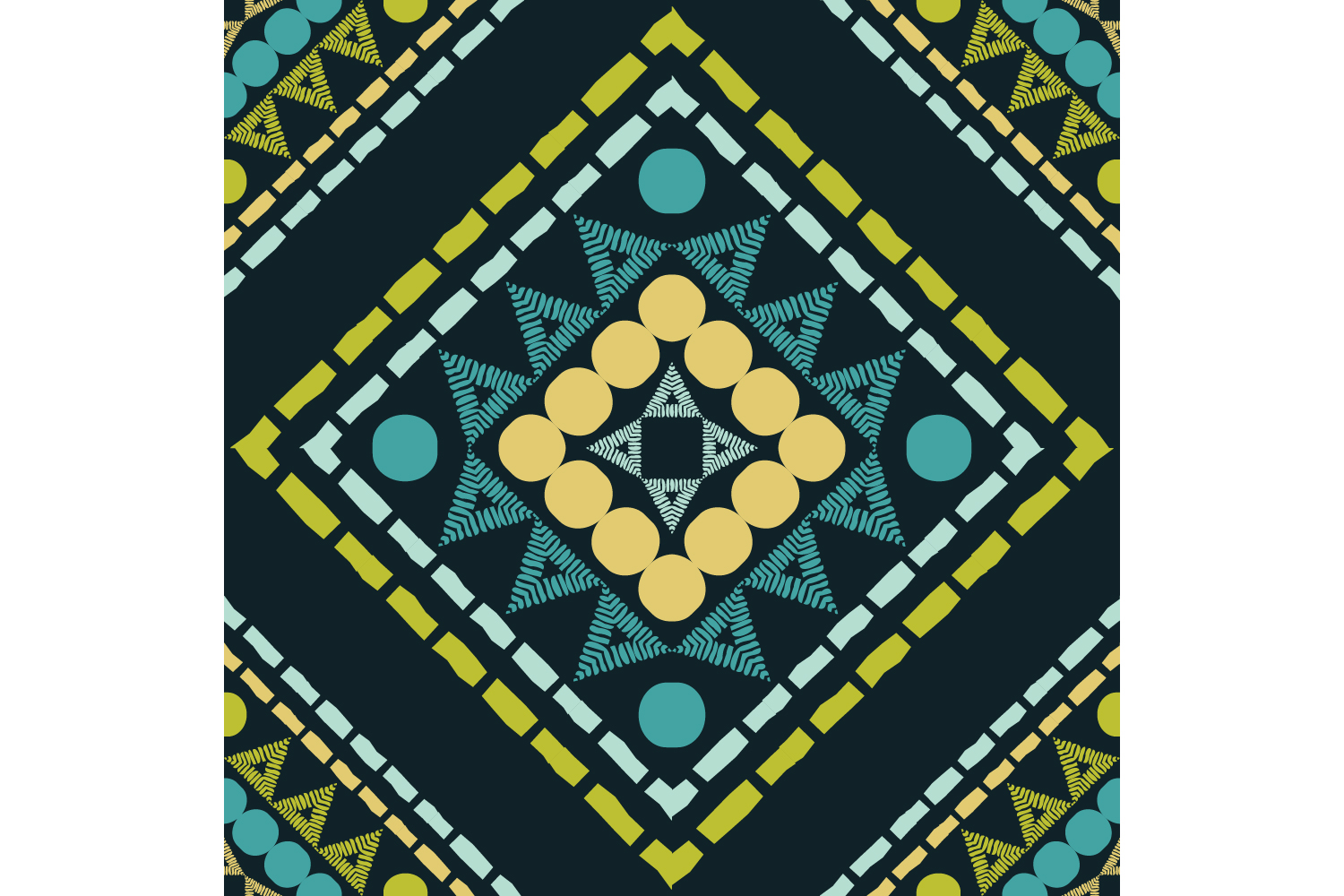 Ethnic boho ornament. Set of 10 seamless patterns. example image 6