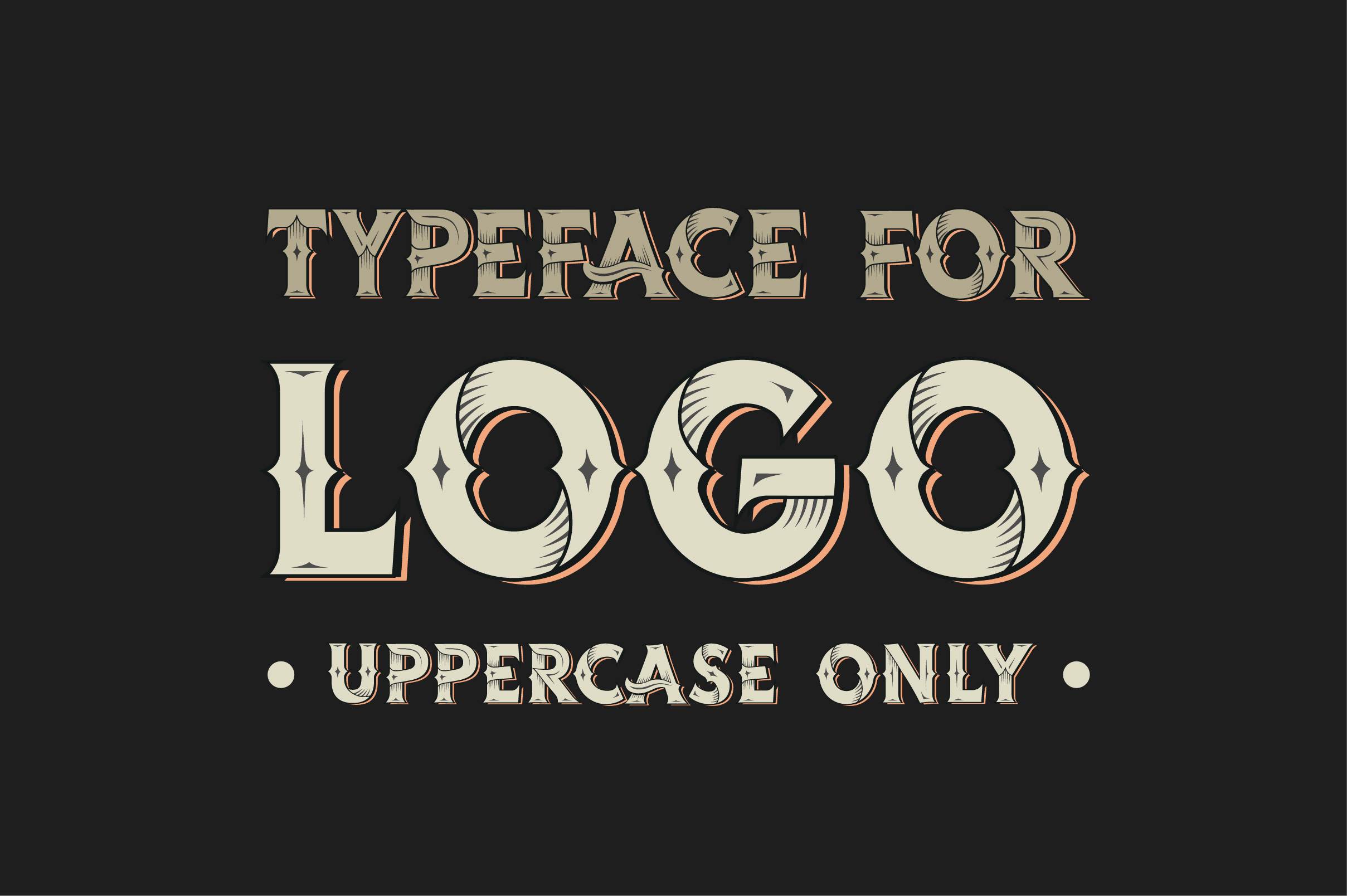 Western OTF vintage label font. Uppercase only! example image 2