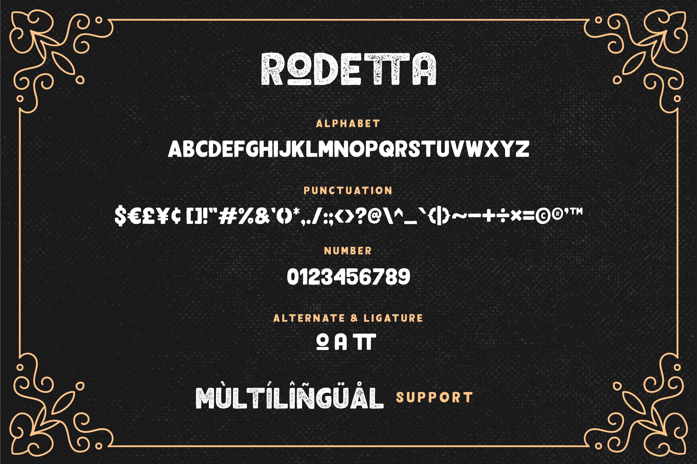 Rodetta - Sans Vintage Font example image 7