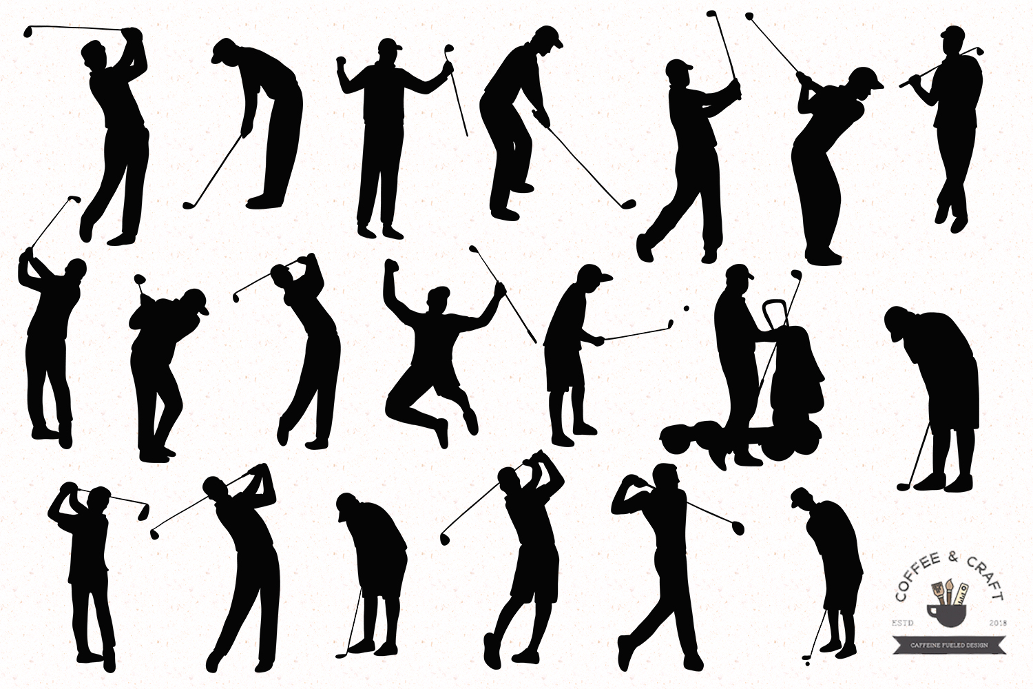 Golfer silhouettes example image 2