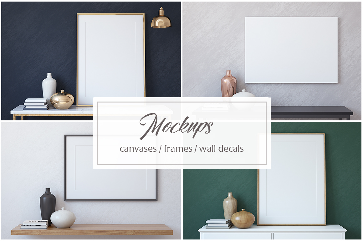 Frame&Canvas&Wall Decal Mock-ups. example image 1
