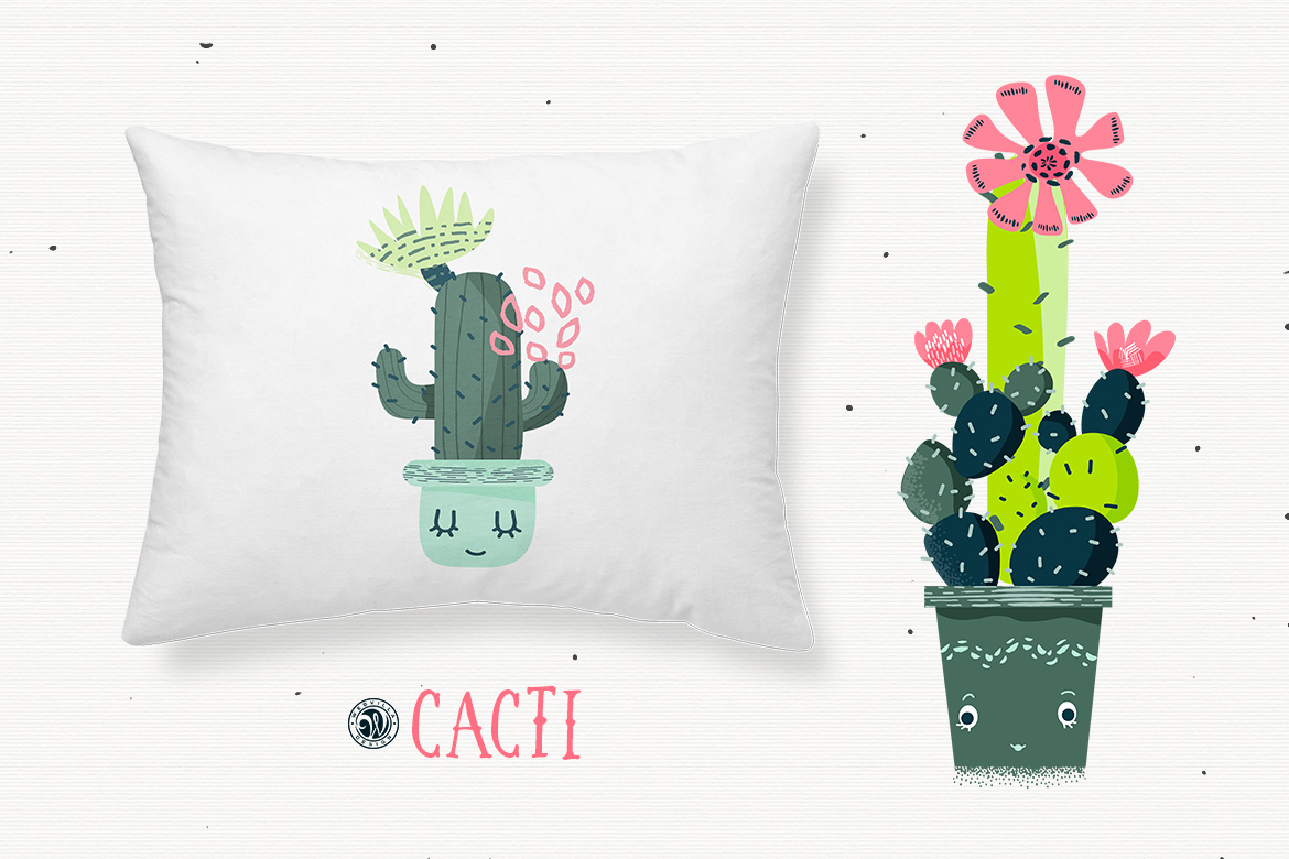 Cacti With Smiling Pots example image 4