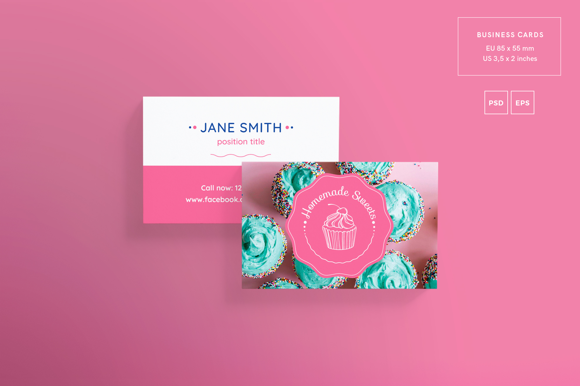 Homemade Sweets Business Card Design Templates Kit