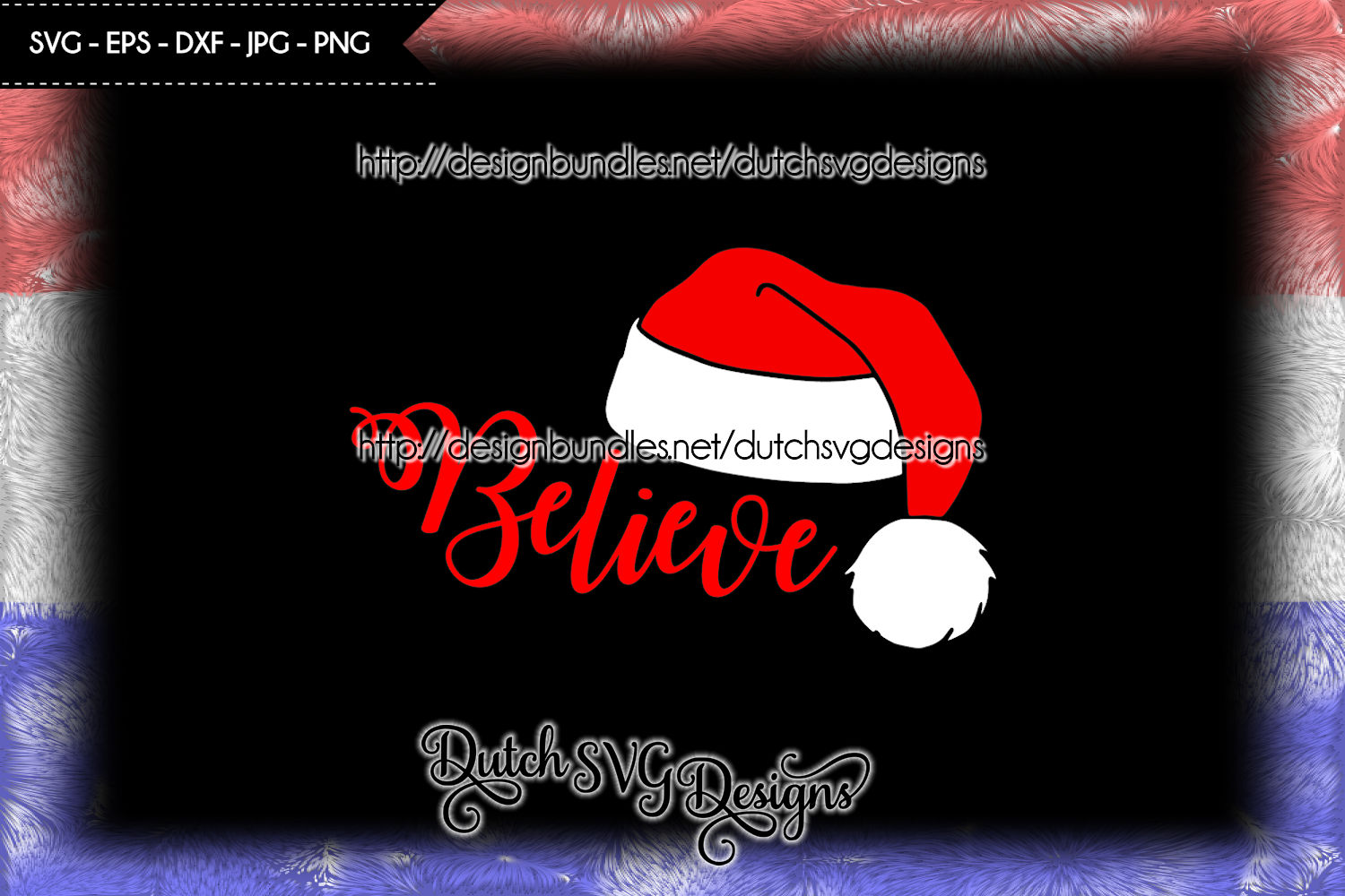 Cutting file Believe with Santa hat, christmas svg, xmas svg example image 3