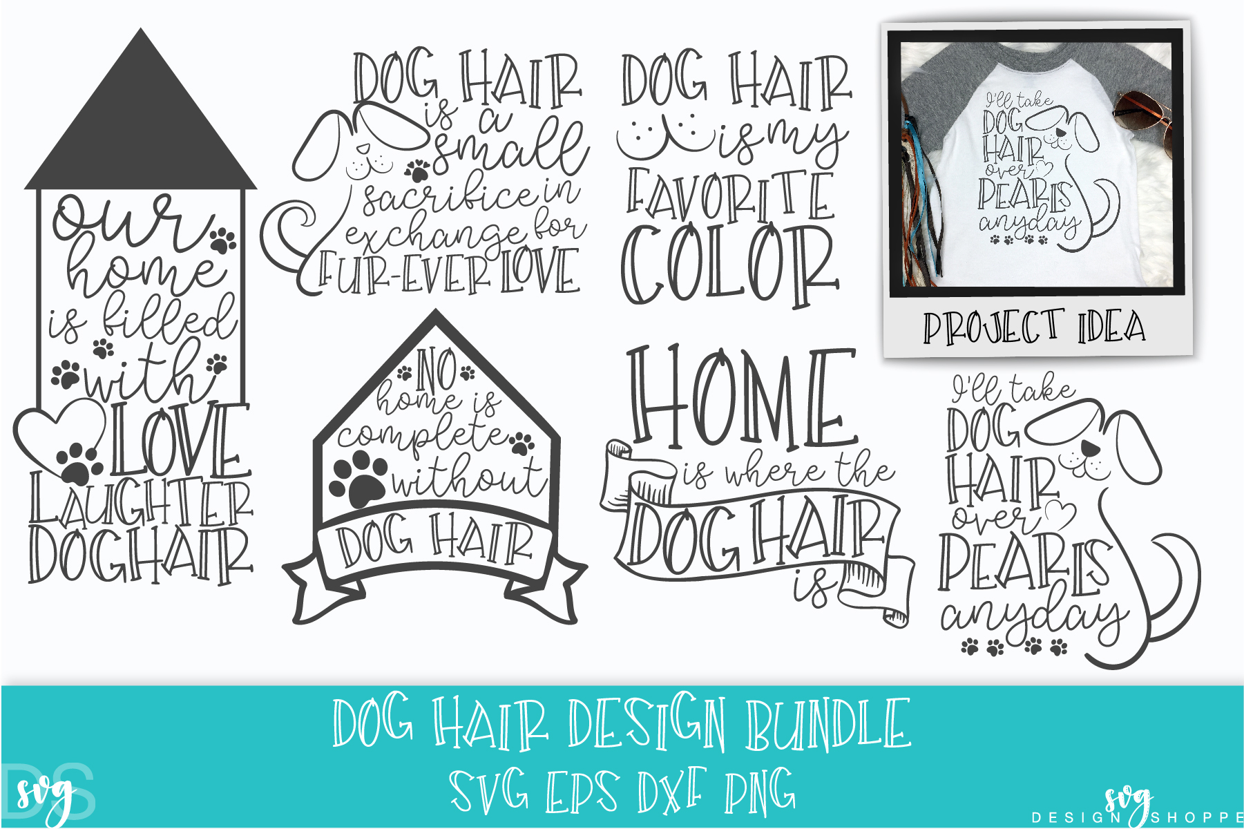 Dog Hair, SVG, PNG, DXF, EPS example image 1