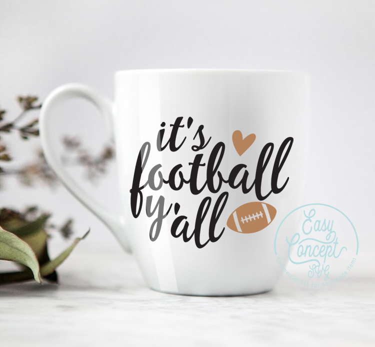 It's football y'all Svg example image 2