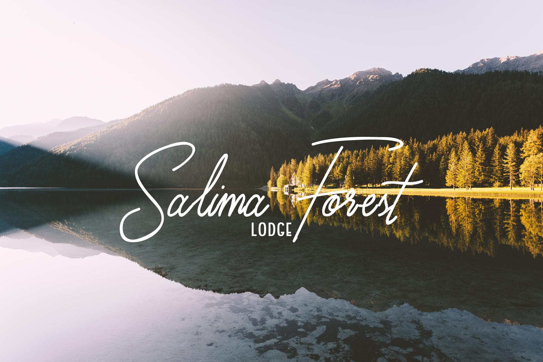 Susannah - a signature font example image 3