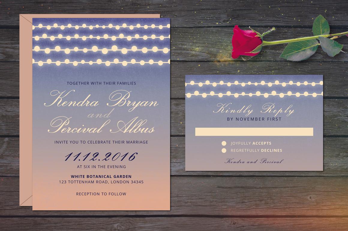 Dusk Wedding Invitation example image 2