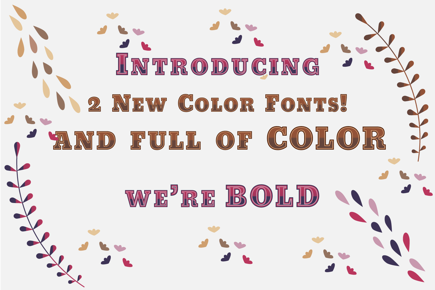 Purple meets Fuchsia and Carmel Toffee fonts example image 1