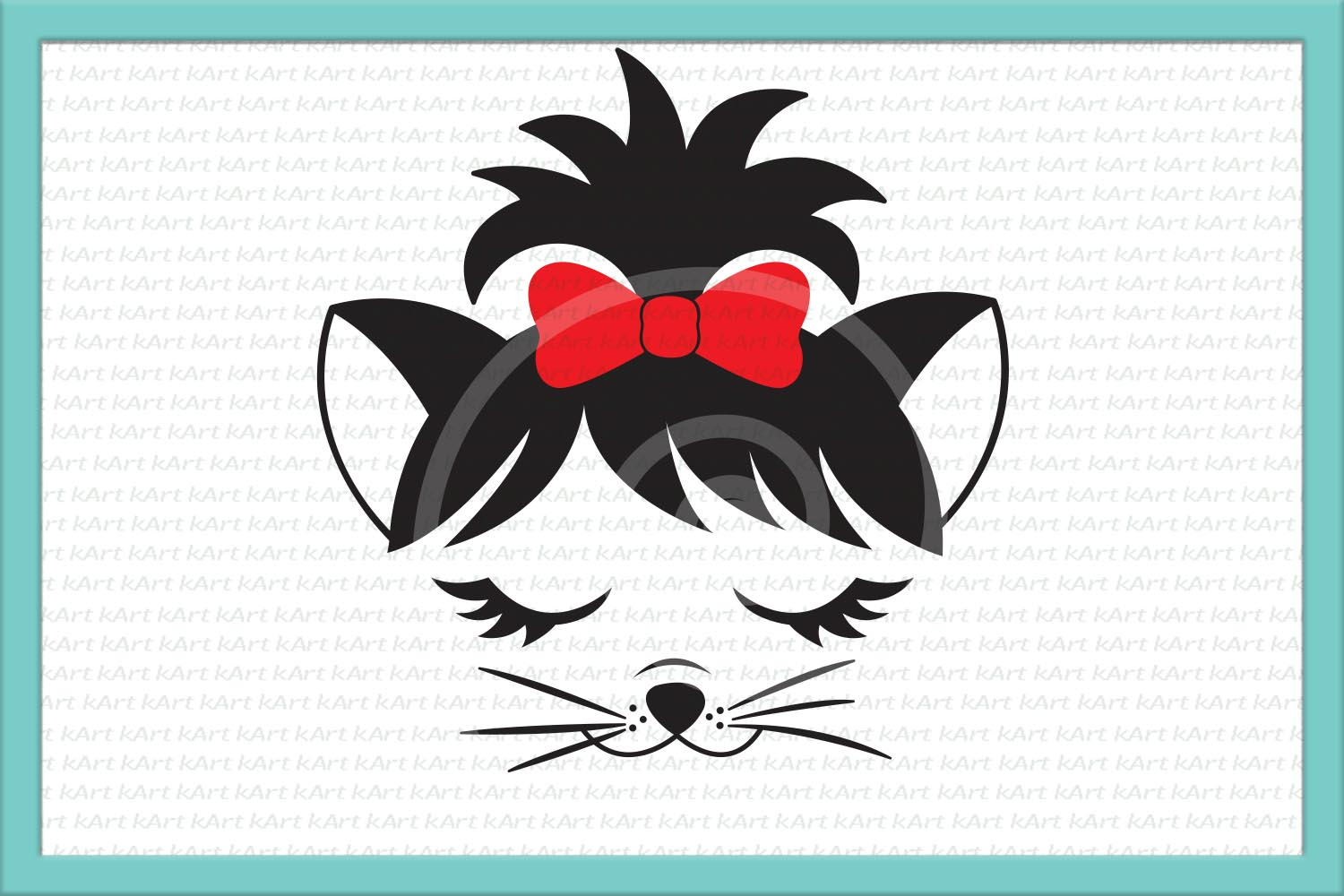 Cat face SVG cutting file Kitty face example image 2
