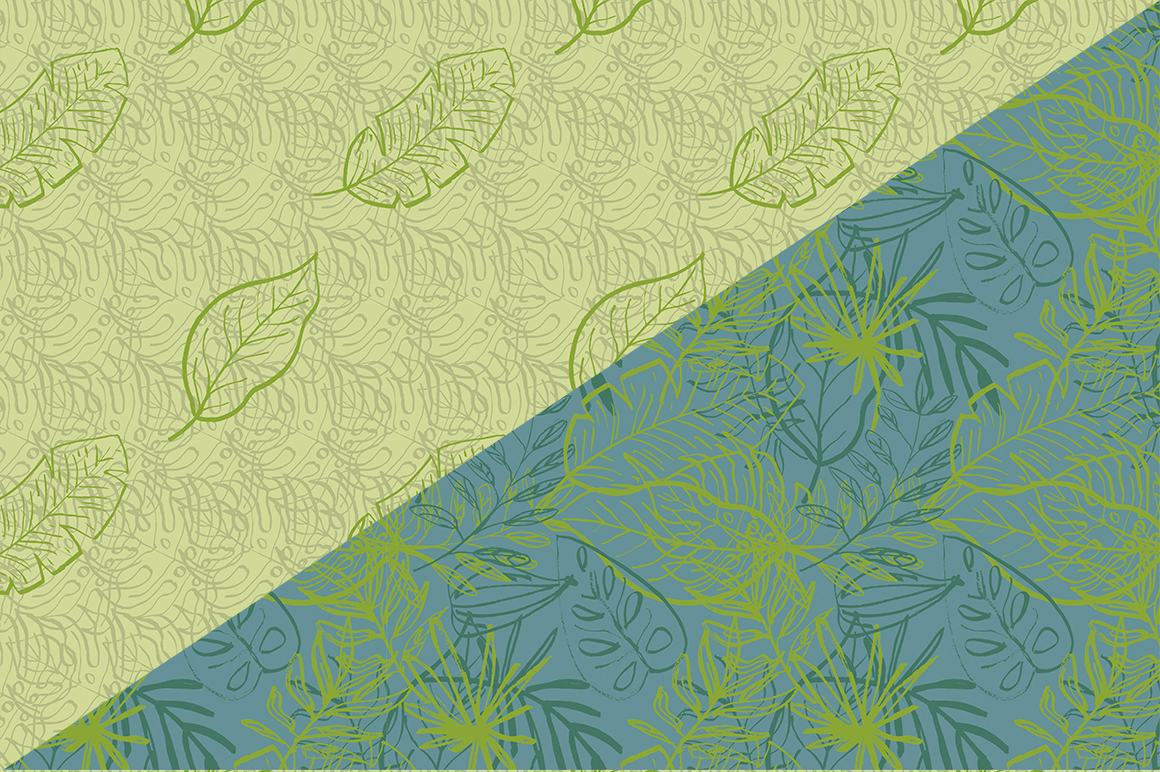 Tropical leaves set example image 6
