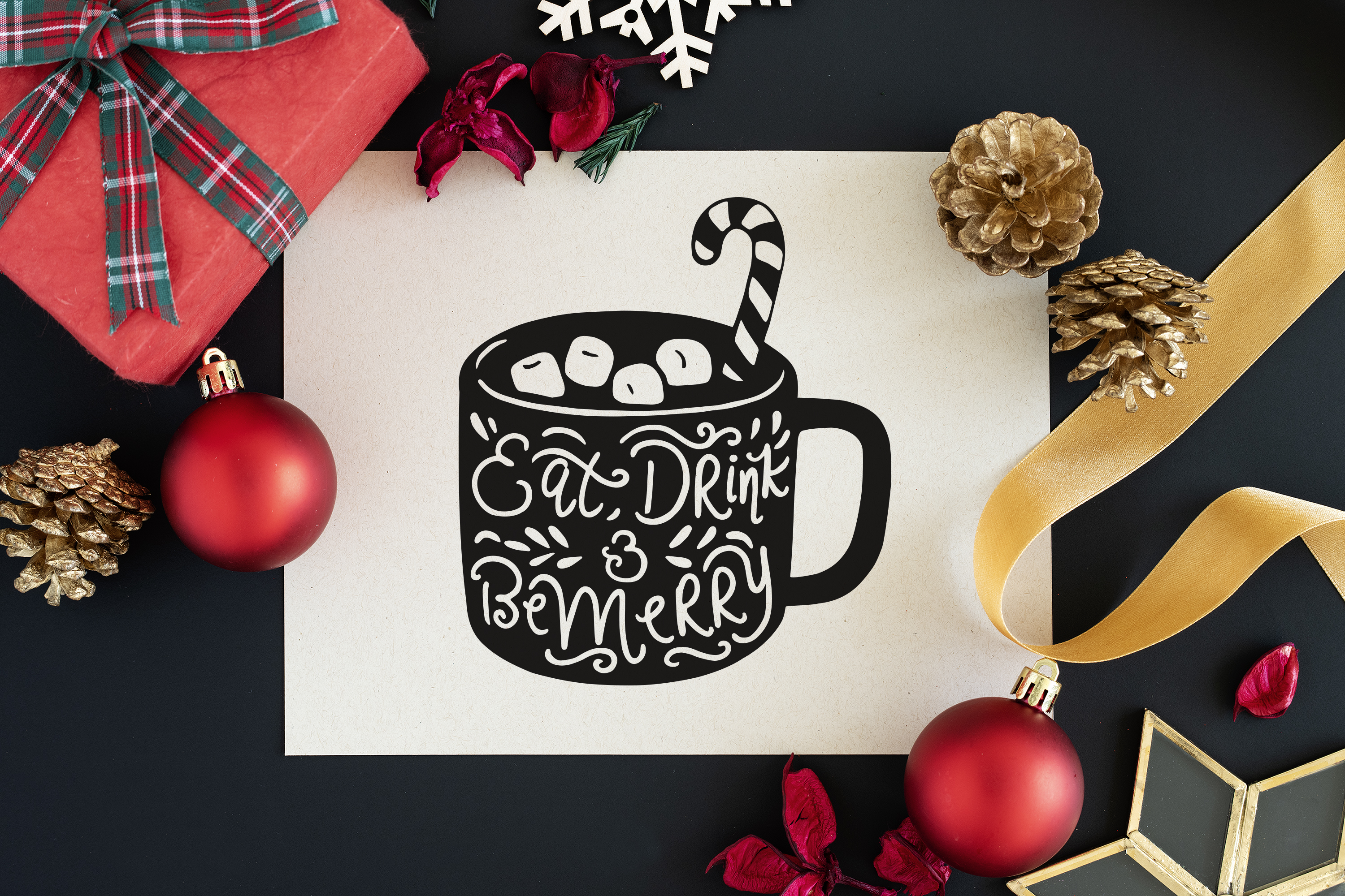 Hotchocolate Cup Silhouette Vector Art example image 5