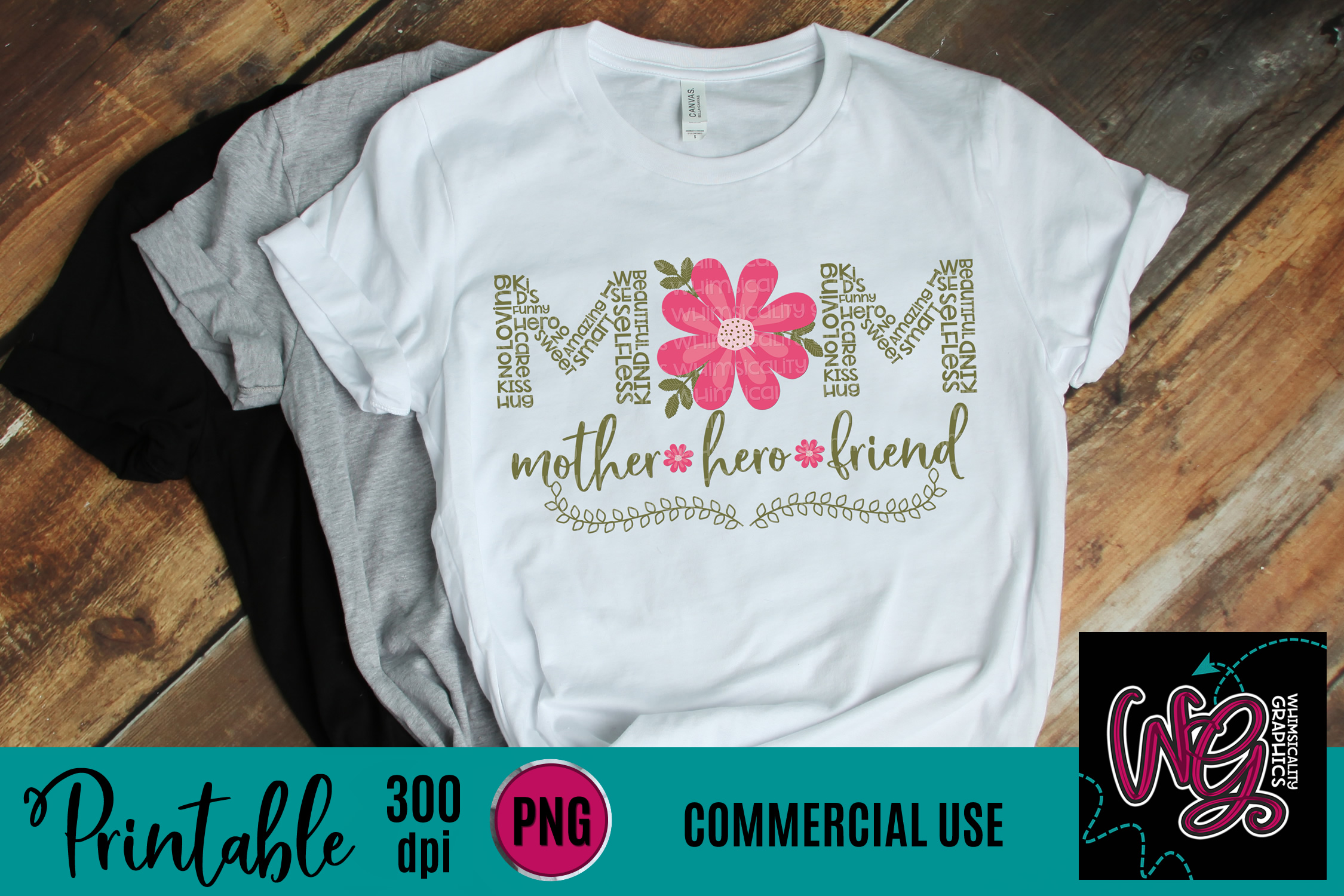 Mom Mother Hero Friend Sublimation Printable example image 1
