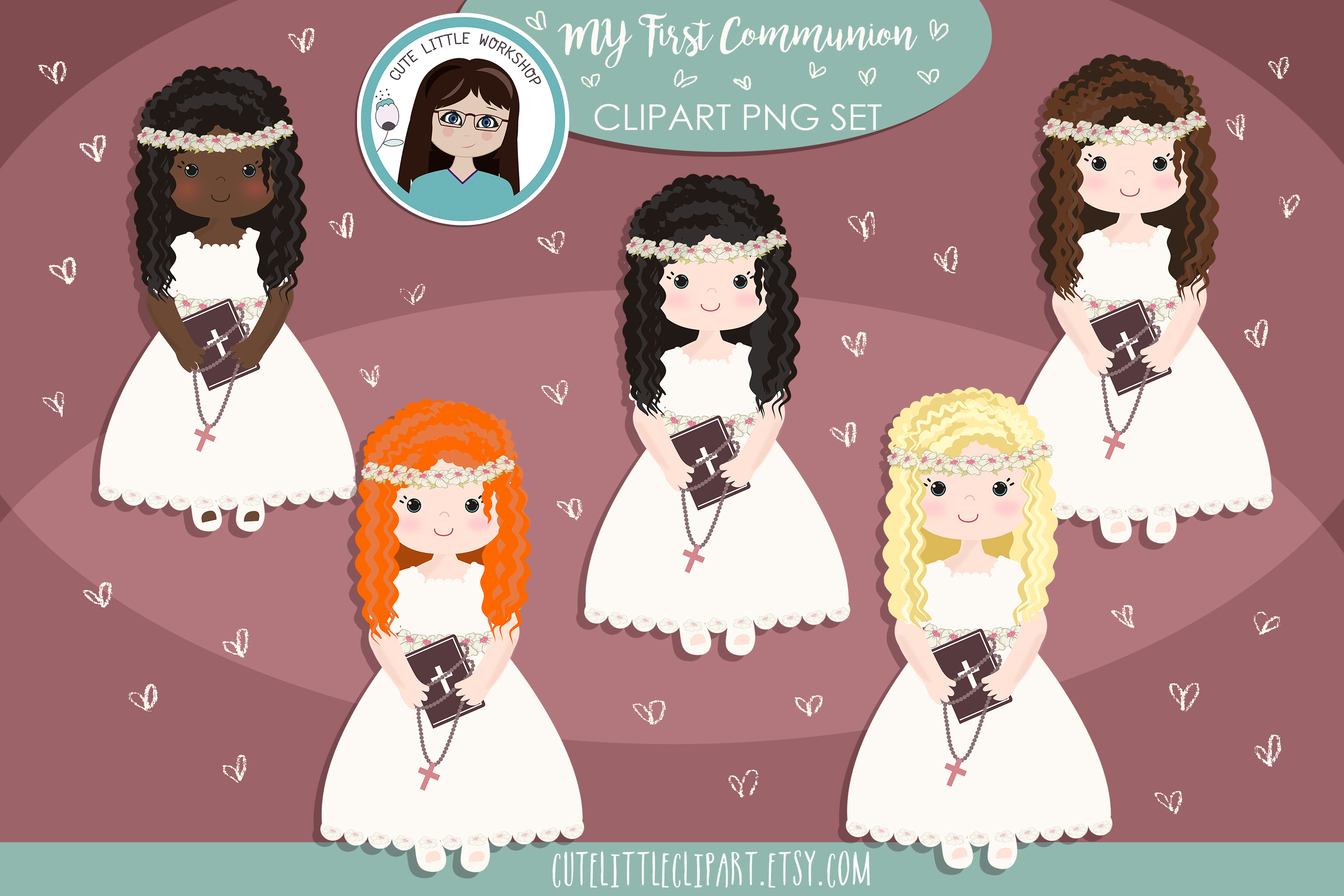 First Communion Cliparts Bundle example image 7