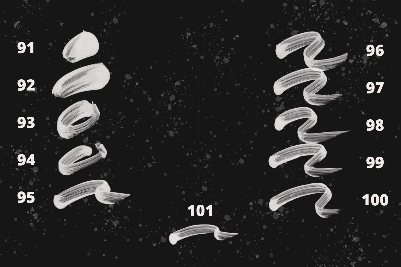101 Photoshop Paint Stroke Brushes example image 12