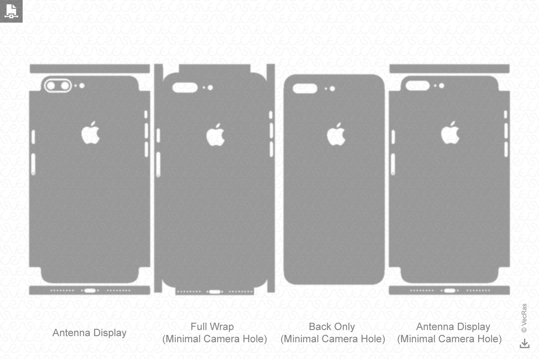 Apple iPhone 7 Plus Vinyl Skin Cut File Template 2016 example image 2