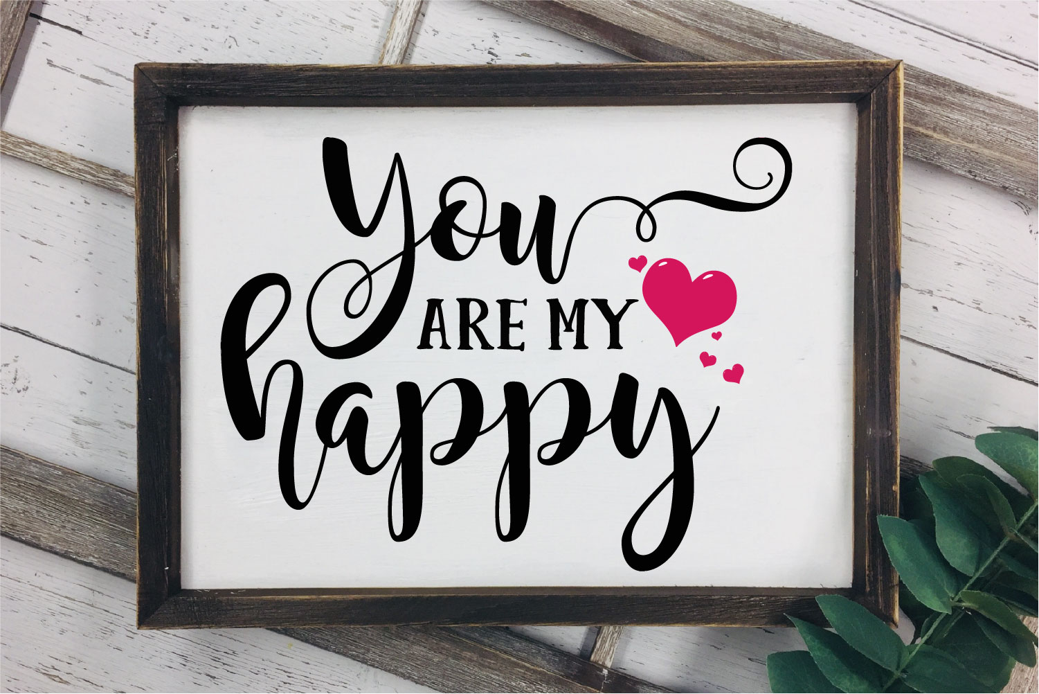 You Are My Happy SVG, Wedding, Love Sublimation example image 1
