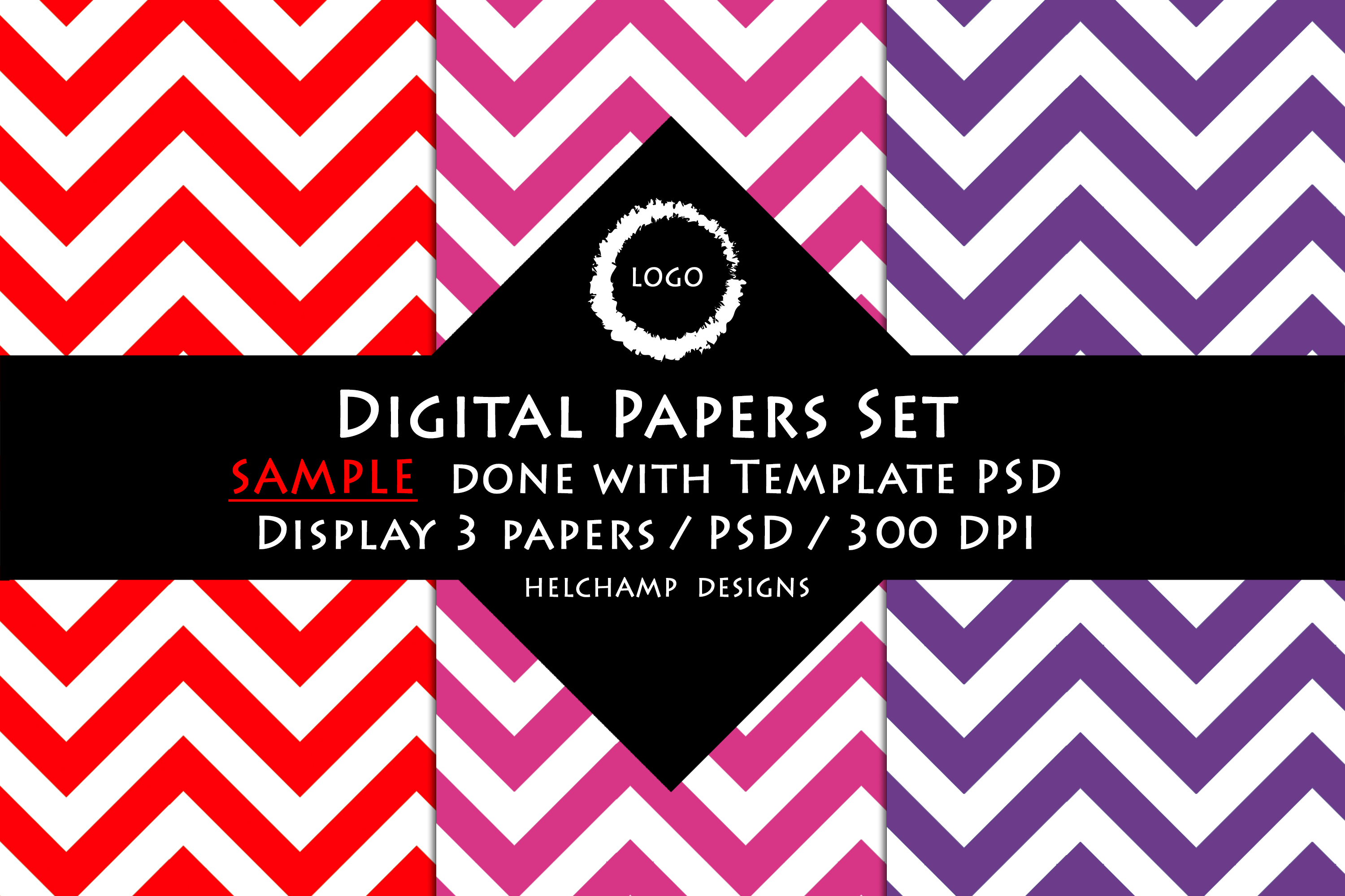 3 Panels Mockup for Digital Papers - M00 example image 4