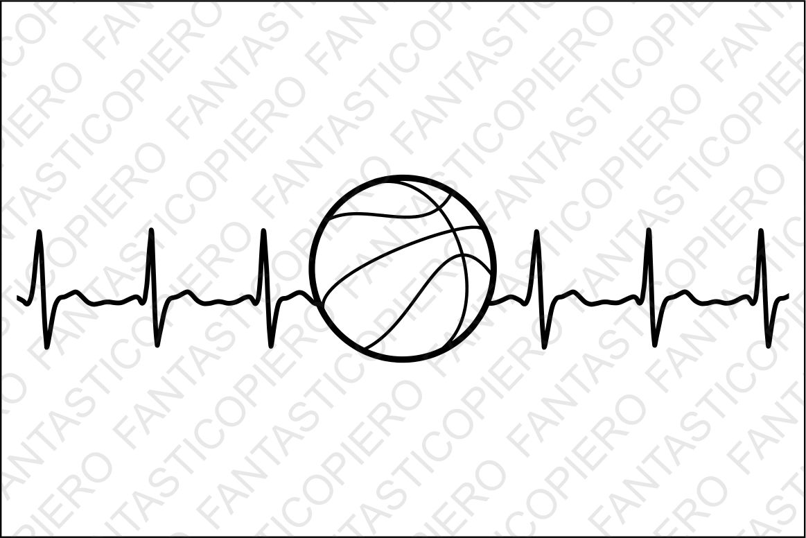 Cardio basketball SVG files for Silhouette Cameo and Cricut. example image 1