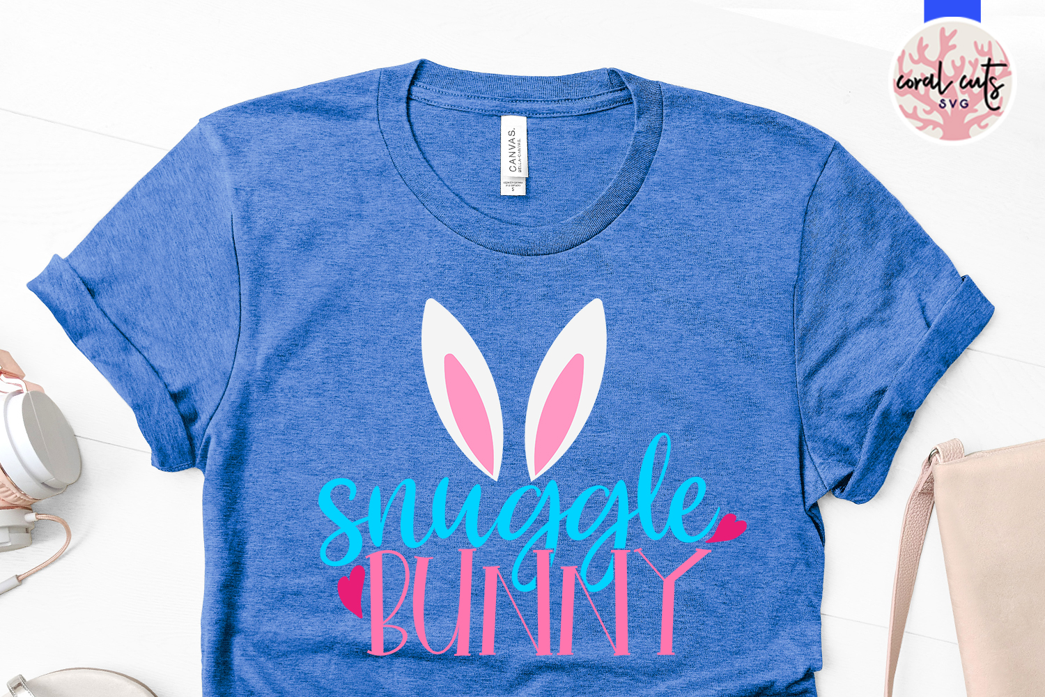 Snuggle bunny - Easter SVG EPS DXF PNG Cutting File example image 2