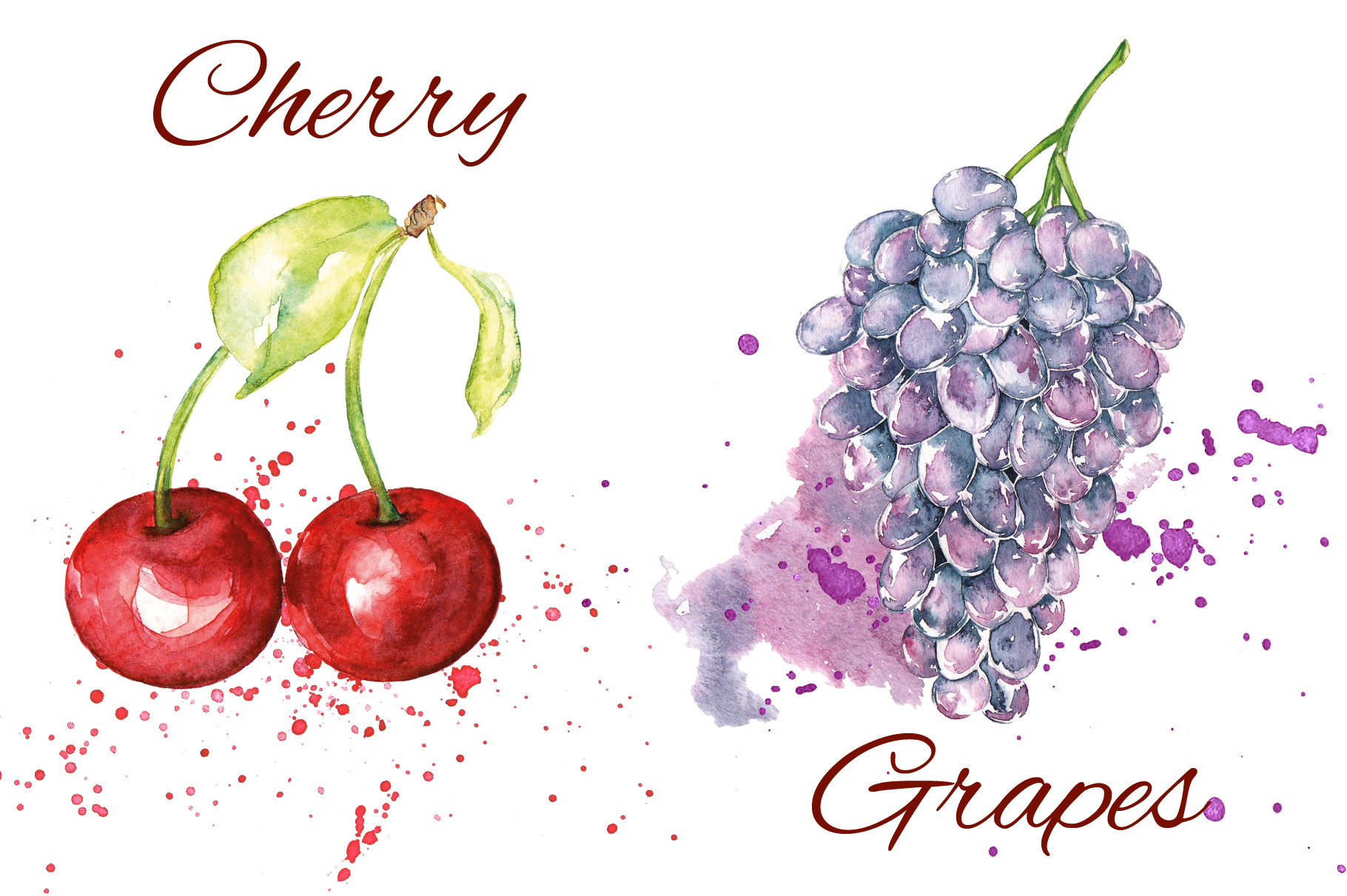 Fruits watercolor collection example image 4