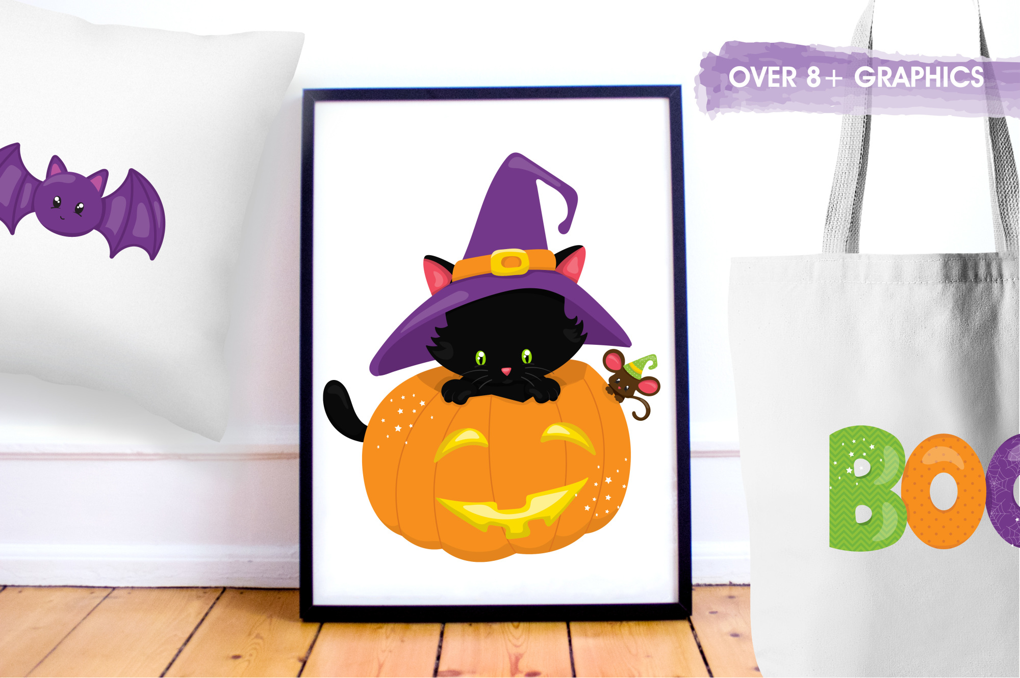 Halloween Kittens graphics and illustrations example image 5