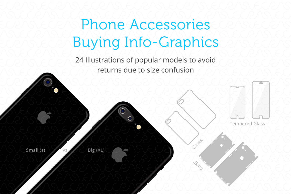 Phone Accessories Customer Guide Info-Graphics Illustrations example image 1