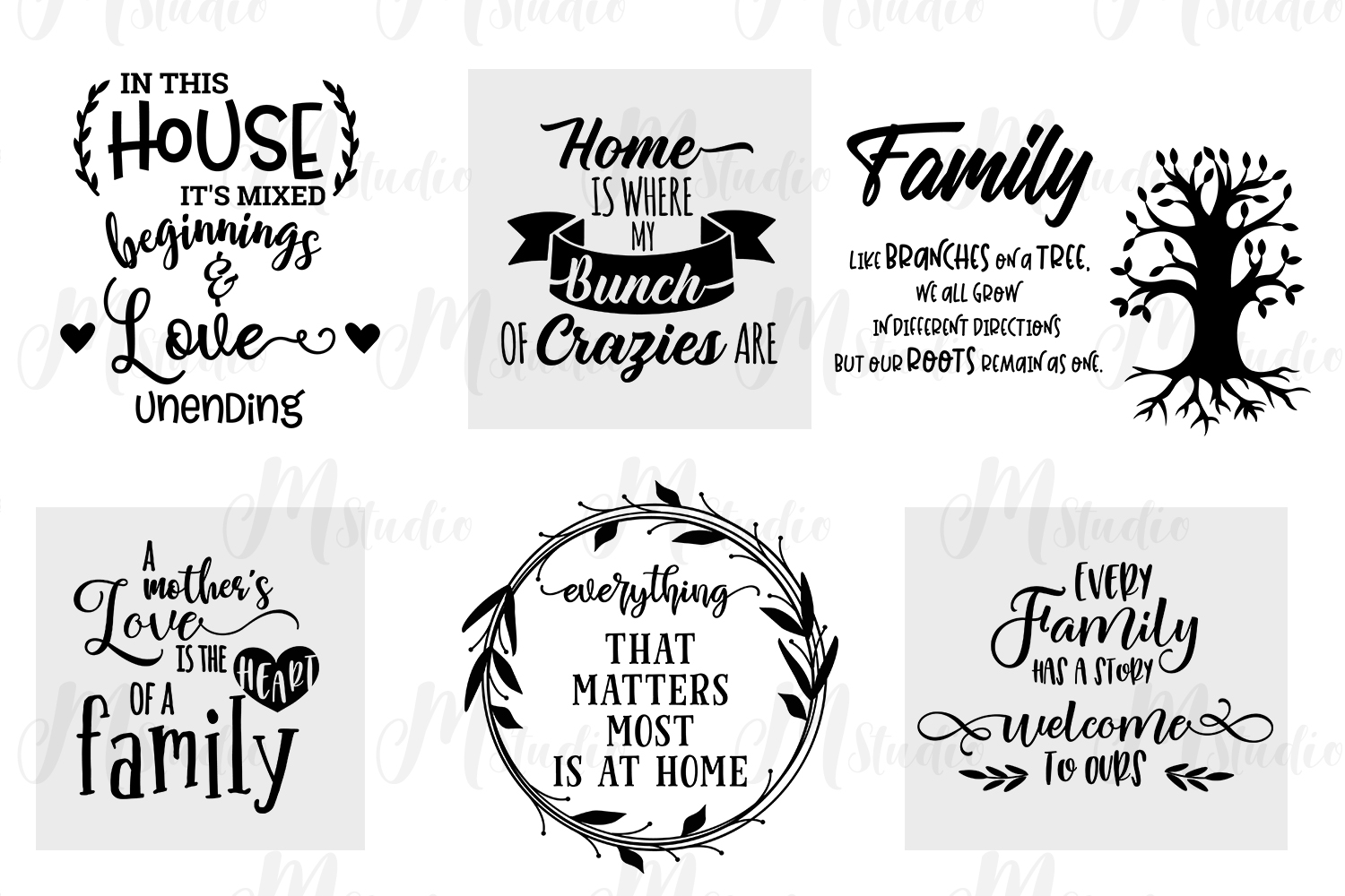 Family Quotes svg bundle example image 3