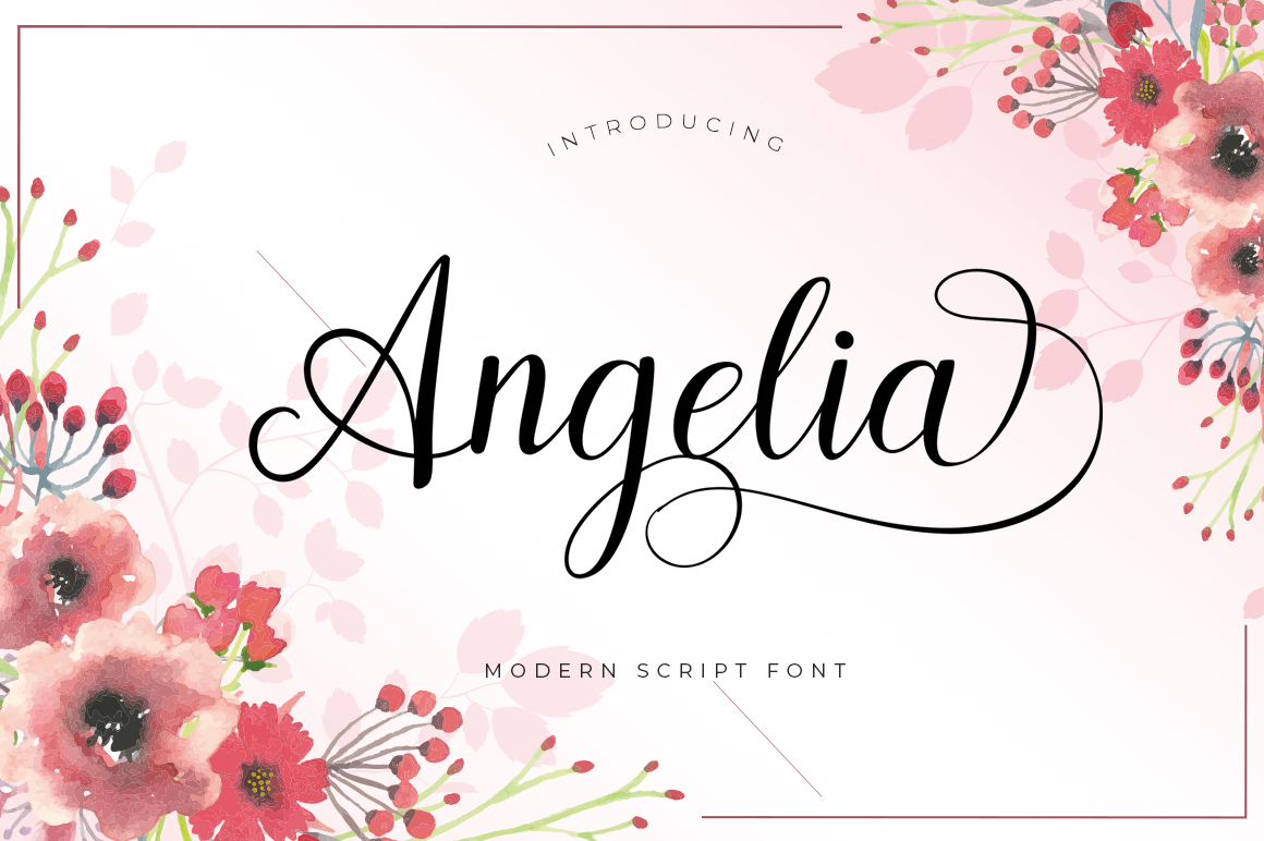 Angelia Script example image 1