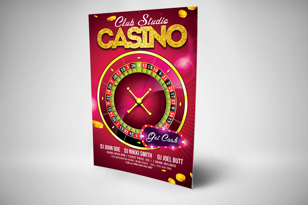 Casino Flyer Template example image 3