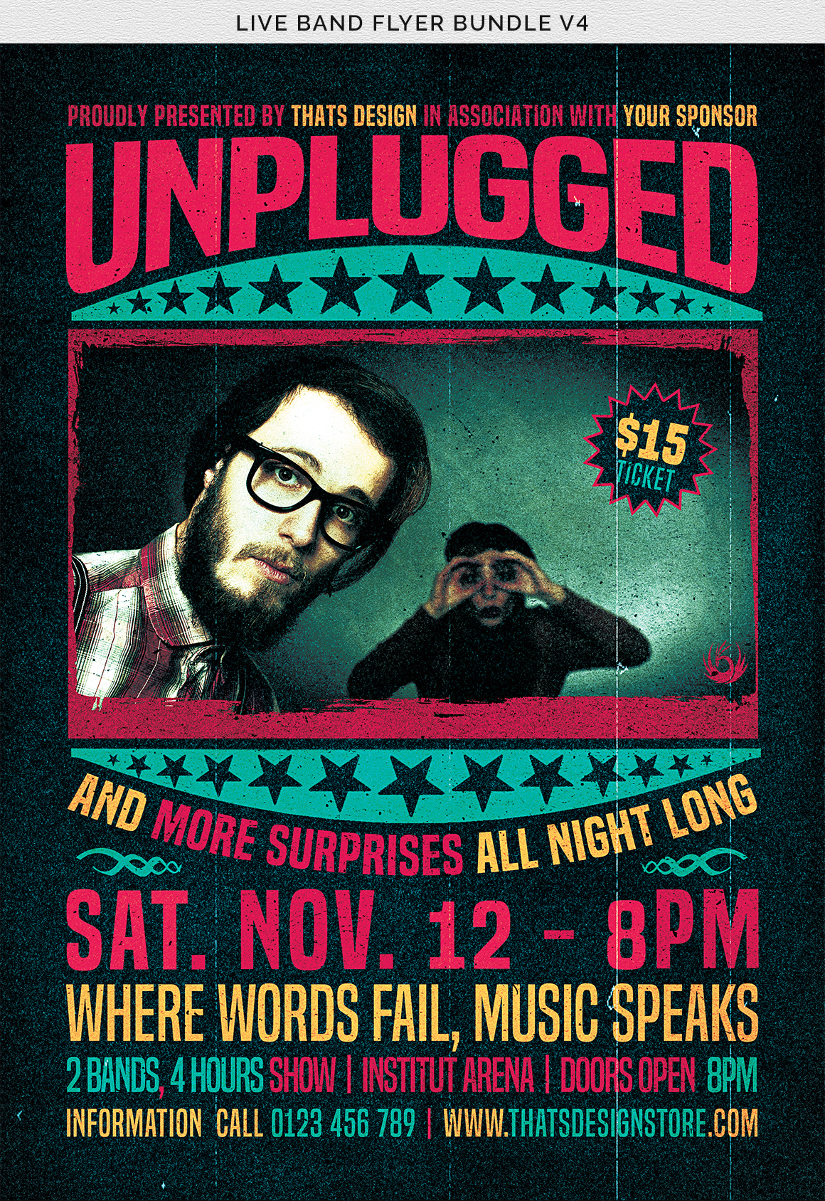 Live Band Flyer Bundle V4 example image 11