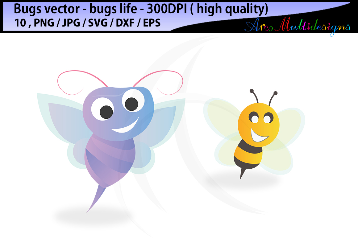 bugs SVG clipart / bugs / insects / insect clipart / cartoon bugs Baby Shower Bugs Clip art / cute bugs / instant download digital clip art example image 2