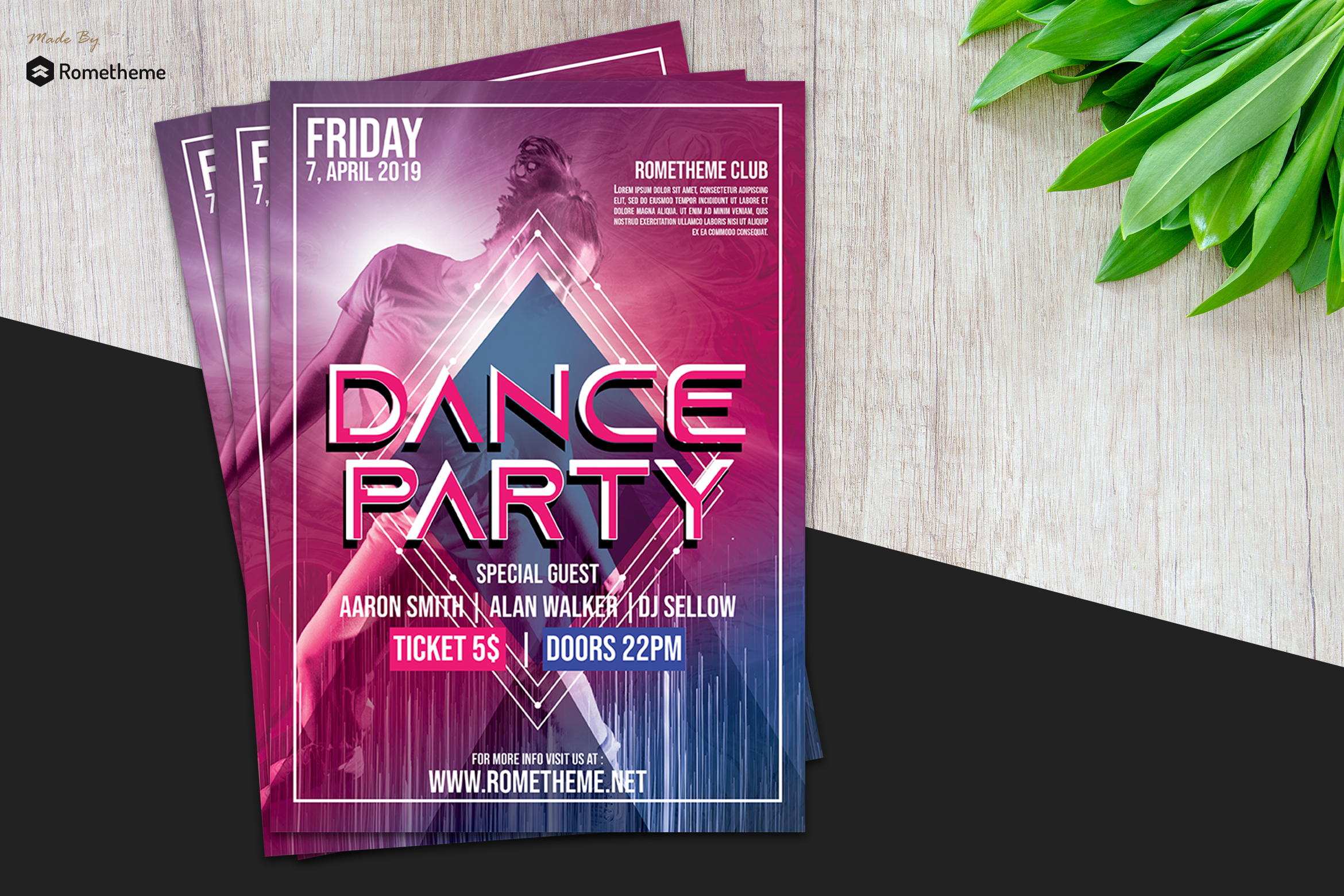 Dance & Event Flyer vol.01 example image 1