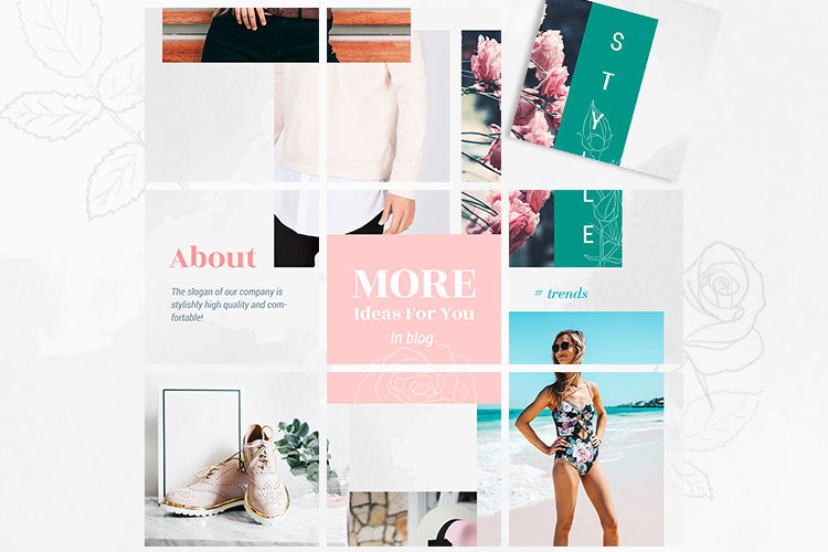 Instagram Puzzle Template - Rose example image 3