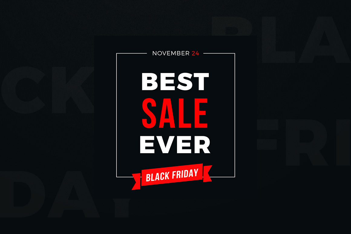 4 Black Friday Sale Banners Set example image 3