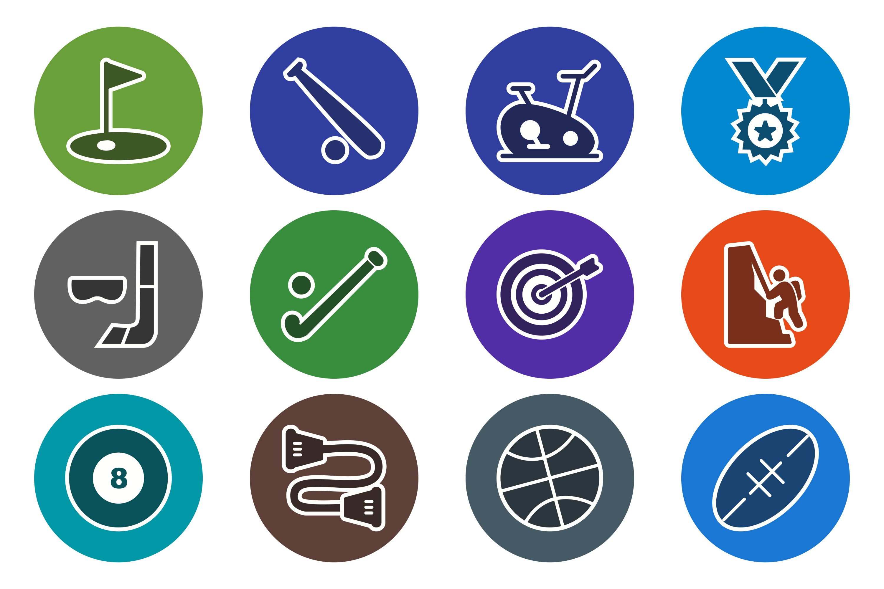 Set Of Sports And Game Icons example image 1