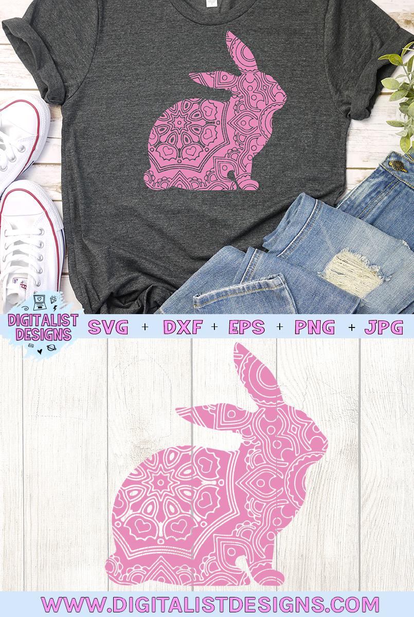 Mandala Bunny SVG example image 2