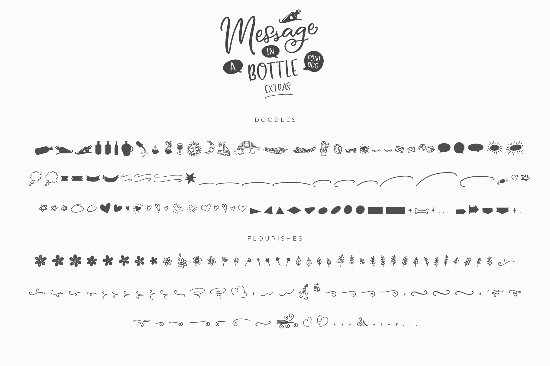Message In A Bottle Font Duo And Extras example image 19