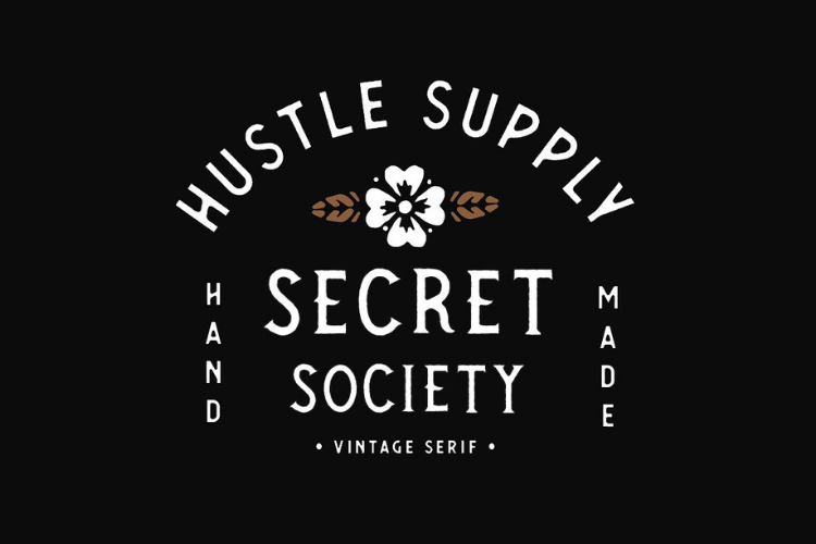 SECRET SOCIETY - A Vintage Serif example image 2